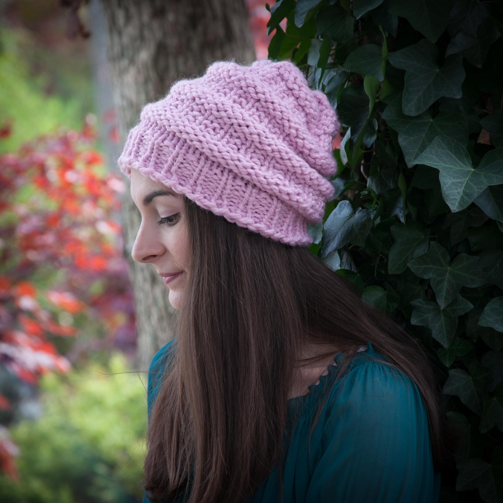 Elegant Loom Knit Hat Pattern Slouch Hat Beanie Textured Bulky Chunky Knit Hat Of Delightful 46 Pictures Chunky Knit Hat