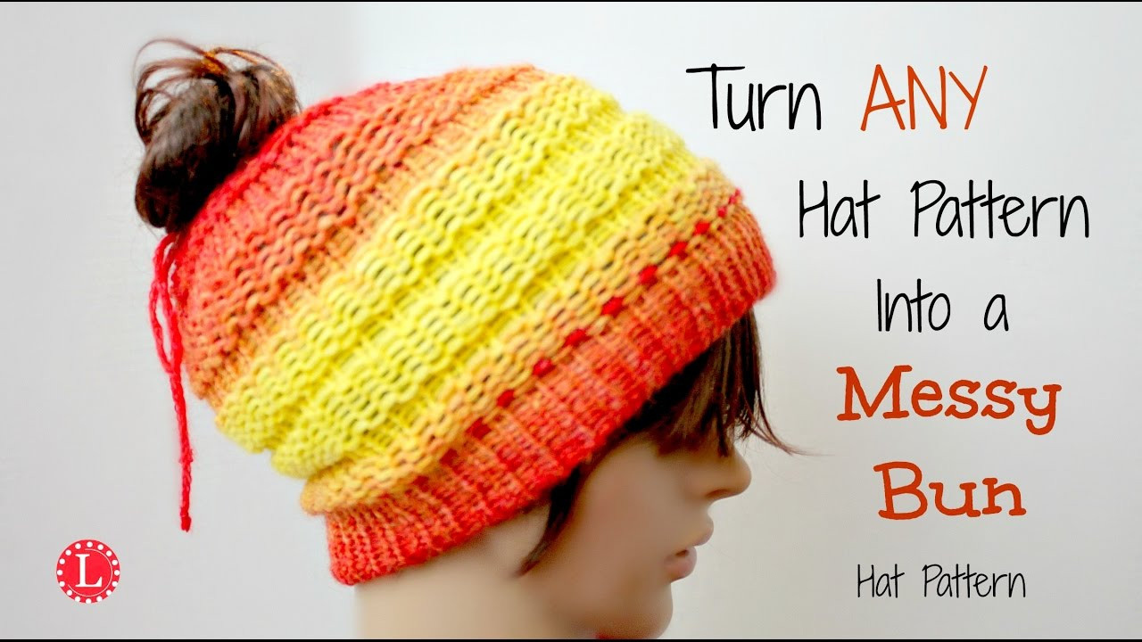 Elegant Loom Knit Turn Any Hat Pattern Into A Messy Bun Hat Free Knitting Pattern for Messy Bun Hat Of Delightful 40 Pictures Free Knitting Pattern for Messy Bun Hat