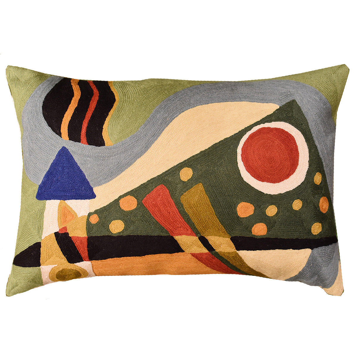 Elegant Lumbar Kandinsky Throw Pillow Position Vii Green Hand Patterned Throw Of Amazing 40 Photos Patterned Throw