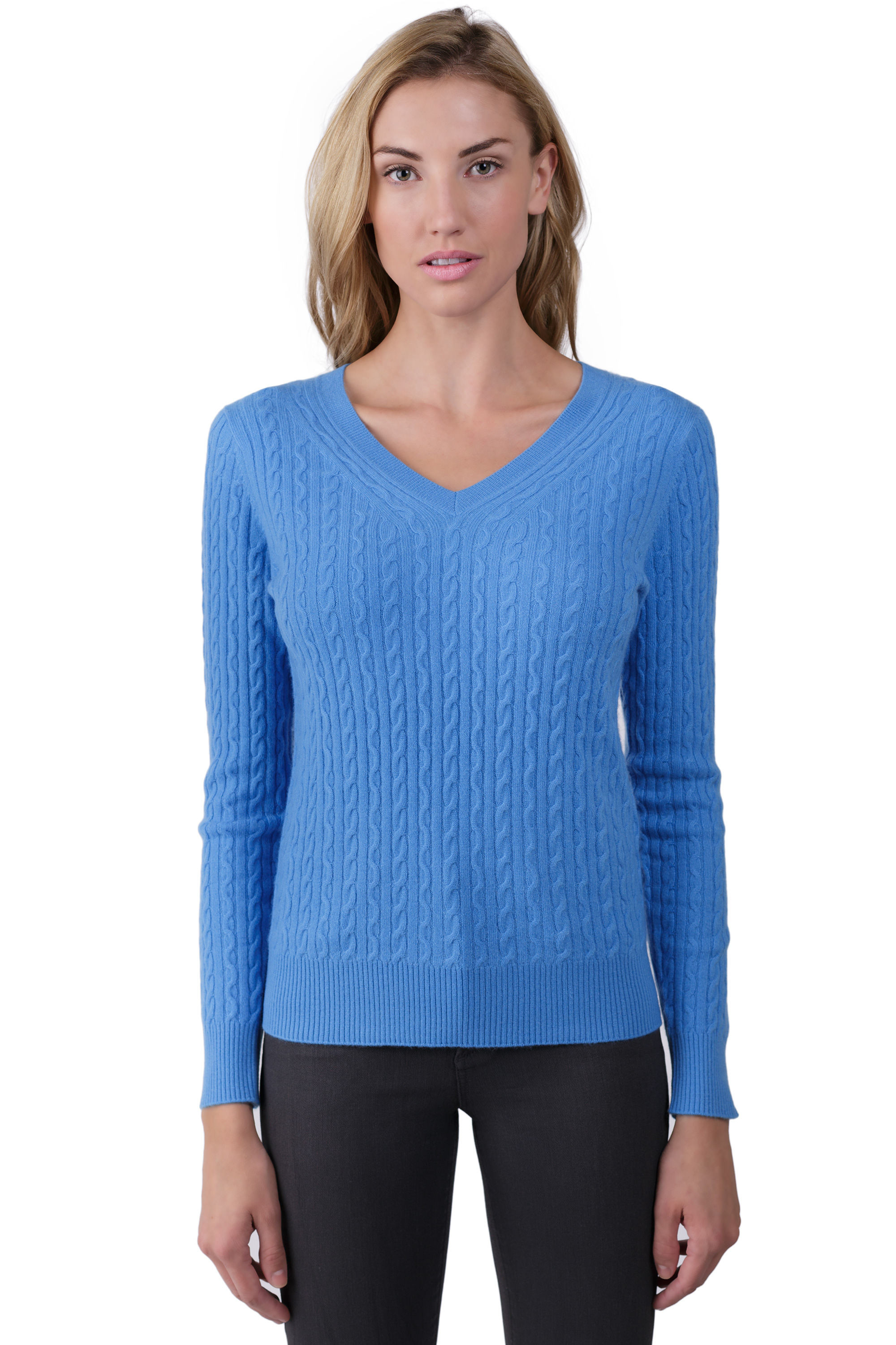 Elegant Lunar Blue Cashmere Cable Knit V Neck Sweater J Cashmere V Neck Cable Knit Sweater Of Great 44 Pictures V Neck Cable Knit Sweater