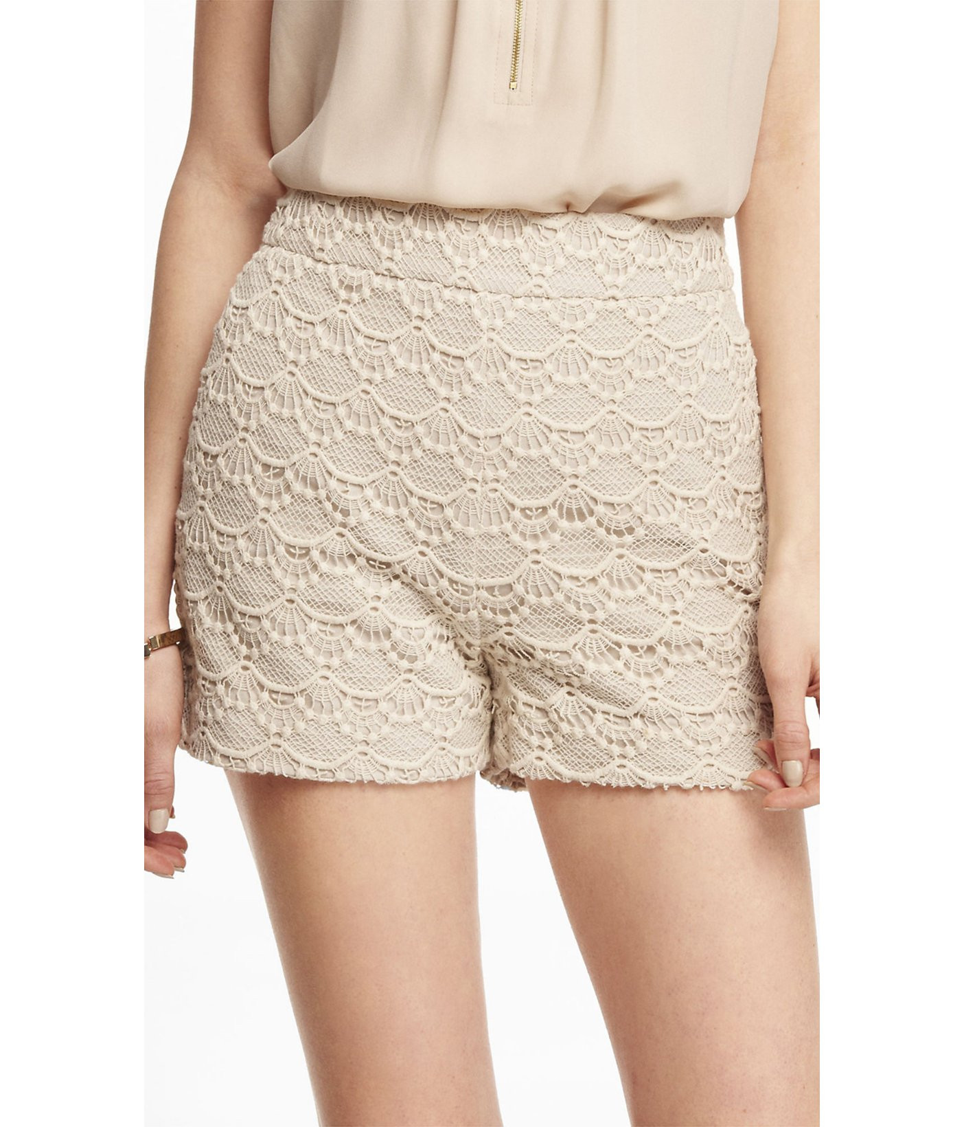 Elegant Lyst Express 2 12 Inch High Rise Crocheted Lace Shorts Crochet Lace Shorts Of Unique 47 Photos Crochet Lace Shorts