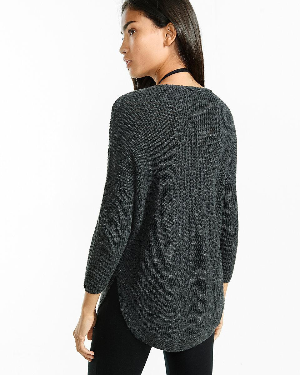 Elegant Lyst Express Zip Front Extreme Circle Hem Sweater Tunic Circle Sweater Of Innovative 50 Ideas Circle Sweater