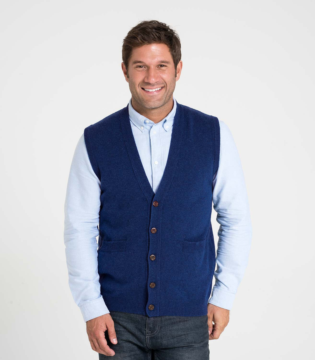 Elegant Marine Pure Lambswool Pure Lambswool Vest Knitted Vest Of Great 48 Pics Knitted Vest
