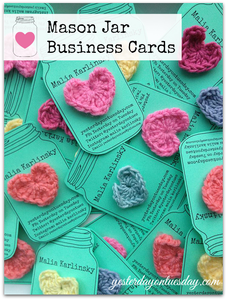 Elegant Mason Jar Business Cards How to Make Your Own Free Mason Crochet Business Cards Of Superb 40 Photos Crochet Business Cards