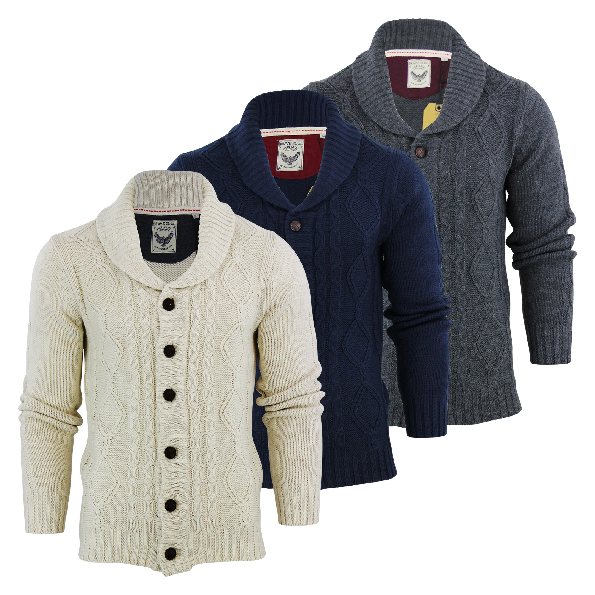 Elegant Mens Cardigan Jumper Brave soul Tractacus Shaw Neck Cable Mens Cable Cardigan Of Top 48 Pics Mens Cable Cardigan