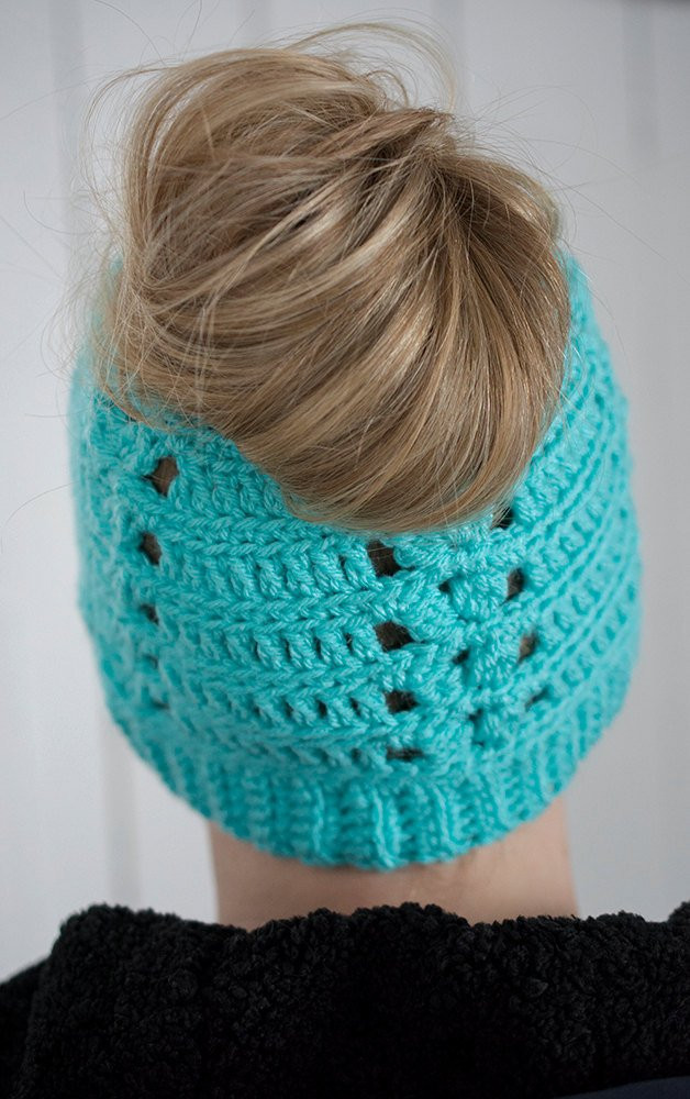 Elegant Messy Bun Hat Crochet Messy Bun Beanie Messy Bun the Messy Messy Bun Beanie Crochet Pattern Of Adorable 45 Pics Messy Bun Beanie Crochet Pattern