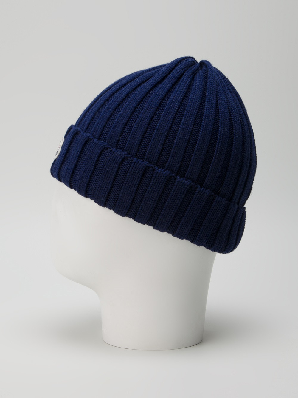 Elegant Moncler Wool Ribbed Knit Beanie Hat In Blue for Men Ribbed Hat Of Amazing 42 Pictures Ribbed Hat