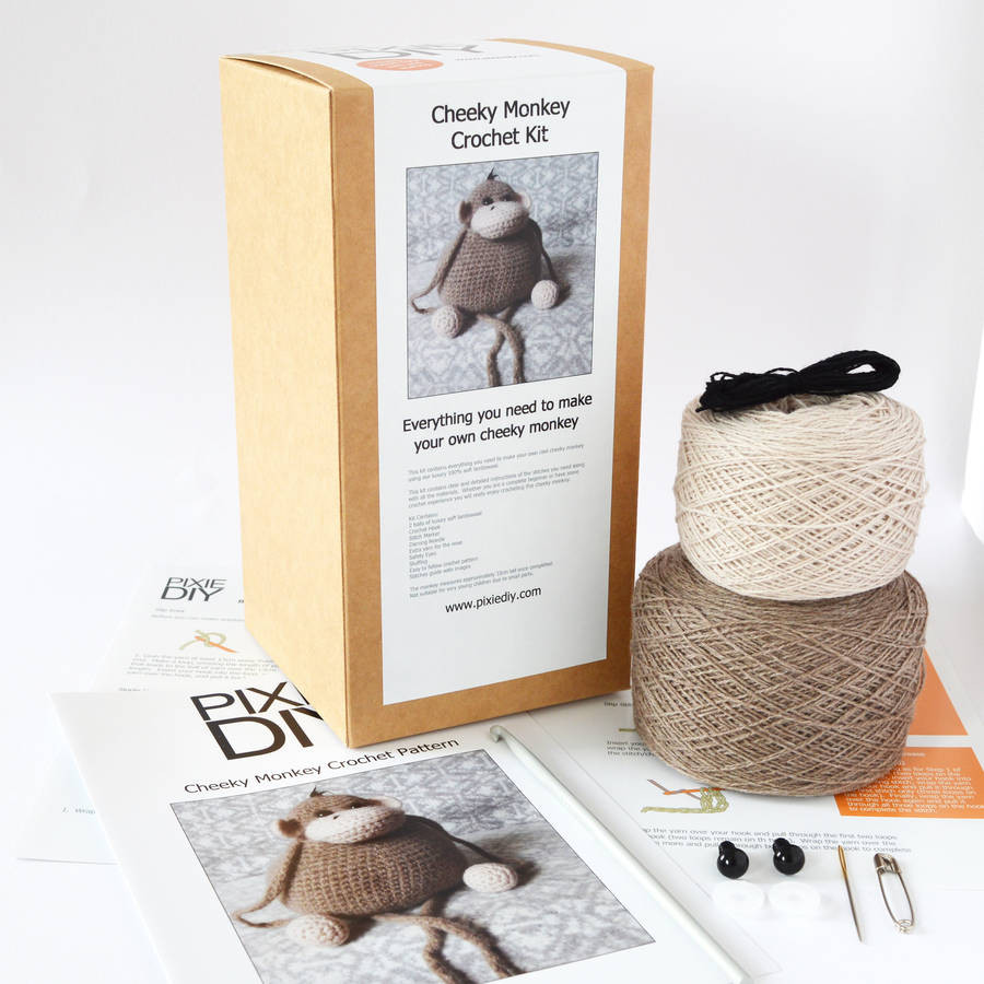 Elegant Monkey Crochet Kit by Warm Pixie Diy Learn to Crochet Kit Of Top 39 Pictures Learn to Crochet Kit