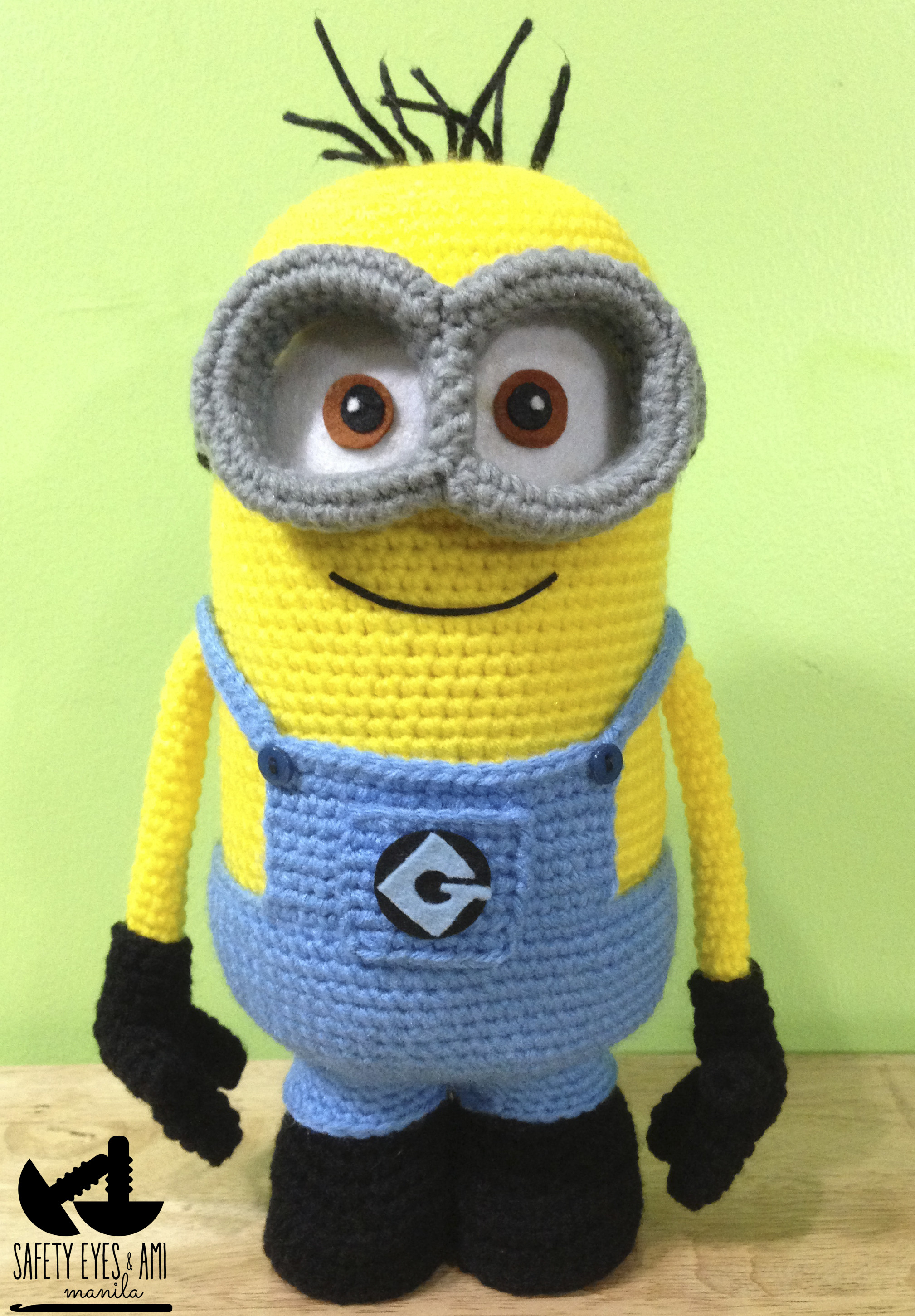 Elegant My 2 Eyed Minion Step by Step Tutorial Safety Eyes and Minion Crochet Pattern Of Lovely 46 Images Minion Crochet Pattern