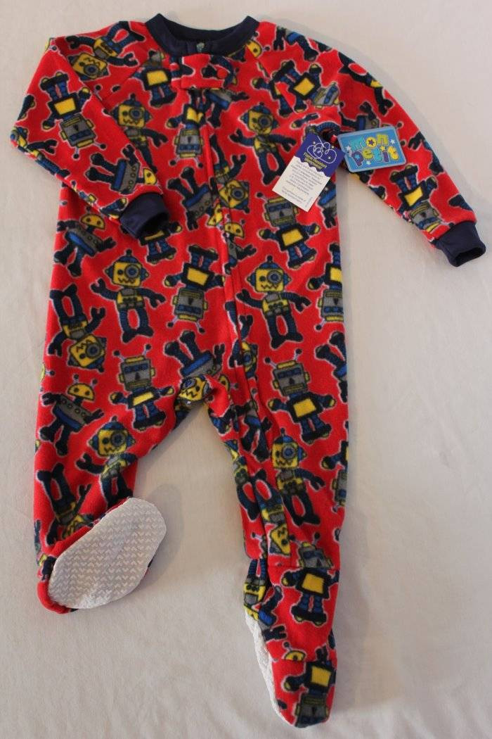Elegant New Baby Boys Footed Pajamas 12 Months Red Robot Sleepwear Baby Pajamas with Feet Of Delightful 40 Photos Baby Pajamas with Feet