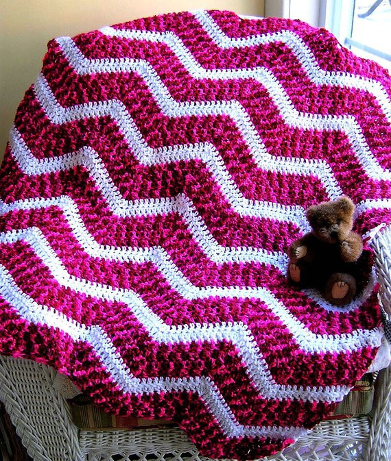 Elegant New Chevron Zig Zag Crochet Knit Baby Afghan Wrap toddler Zig Zag Crochet Afghan Pattern Of New 43 Pics Zig Zag Crochet Afghan Pattern