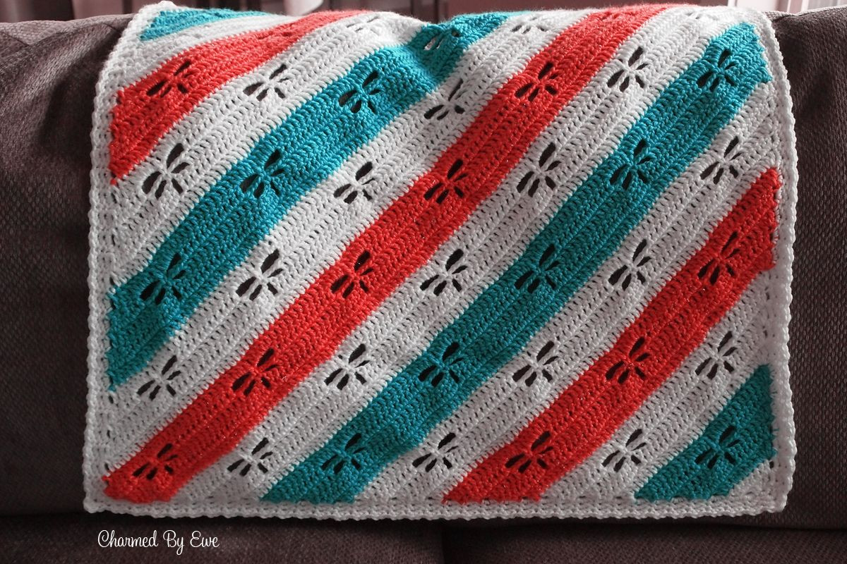NEW Free Crochet Pattern Dragonfly C2C Throw
