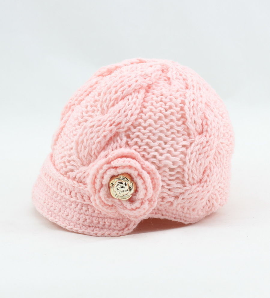 Elegant Newborn Baby Girl Knit Hat Crochet Flower Gold buttons Newborn Knit Hat Of Perfect 50 Images Newborn Knit Hat