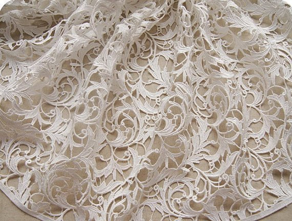 Elegant Off White Lace Fabric Venise Lace Fabric Bridal Crocheted Crochet Lace Fabric Of Attractive 45 Images Crochet Lace Fabric