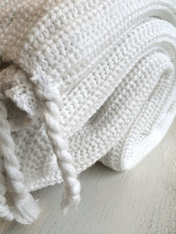 Elegant organic Cotton Knit Throw Blanket Pure White Travel by Cotton Knit Blanket Of Innovative 42 Models Cotton Knit Blanket