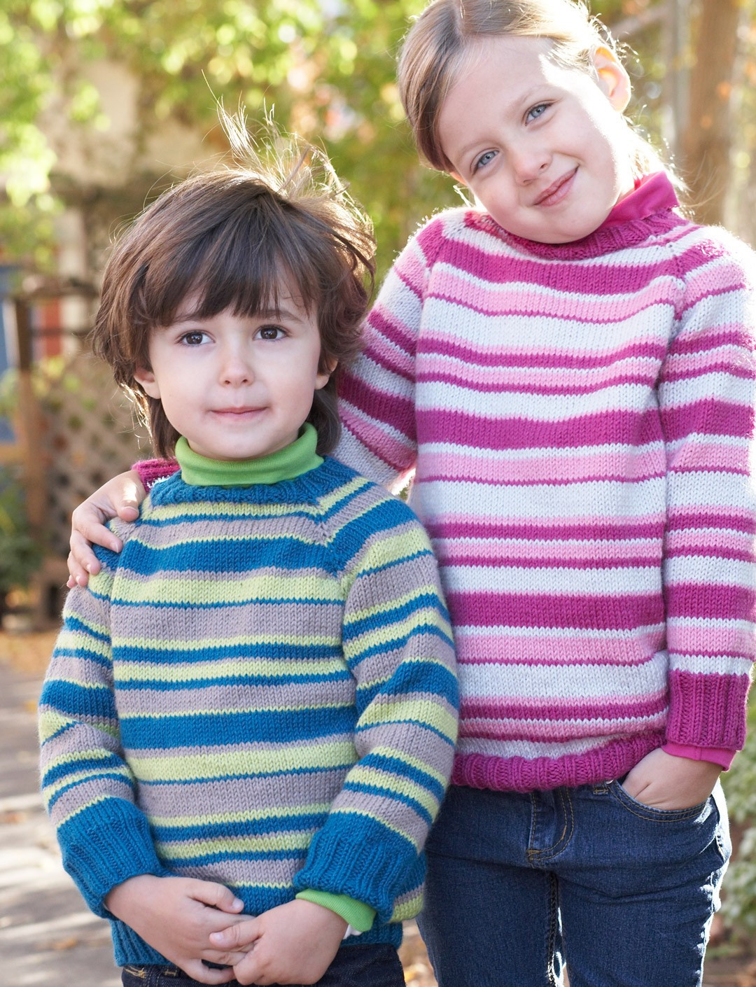 Elegant Patons Kids top Down Striped Sweater Knit Pattern Knitting Patterns for Childrens Sweaters Of Charming 47 Models Knitting Patterns for Childrens Sweaters