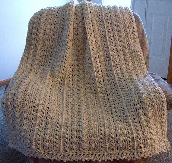 Pattern ly Weekender s Aran Fisherman Crochet afghan