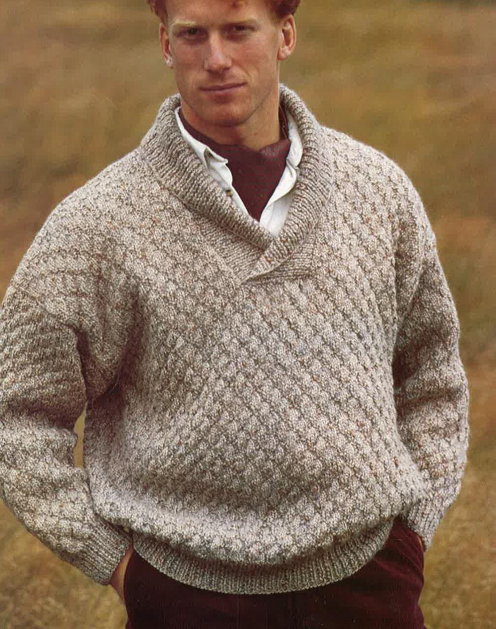 pattern mens sweater crochet