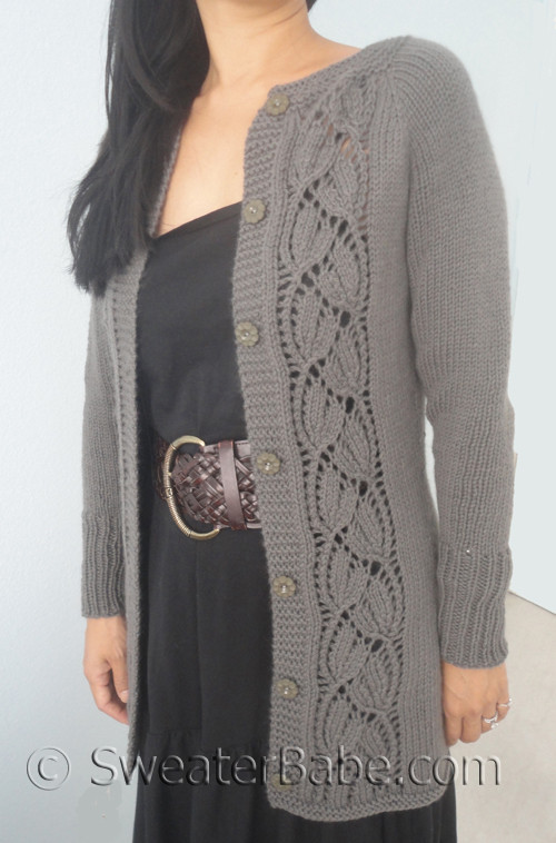 PDF Knitting Pattern for Simply SweaterBabe Top Down