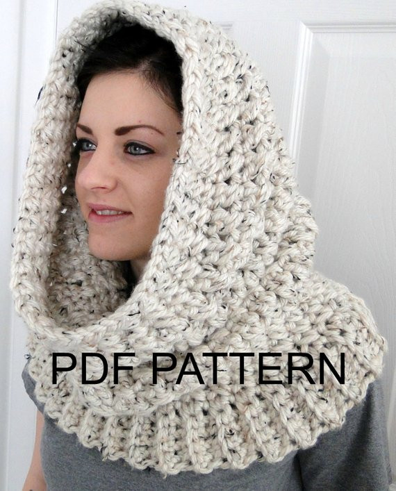 Elegant Pdf Pattern Only Hooded Neck Warmer Cowl Scarf for Women Hooded Scarf Pattern Of Brilliant 43 Pics Hooded Scarf Pattern