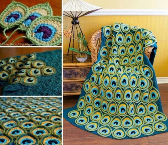 Peacock Crochet Blanket Pattern Is A Favourite