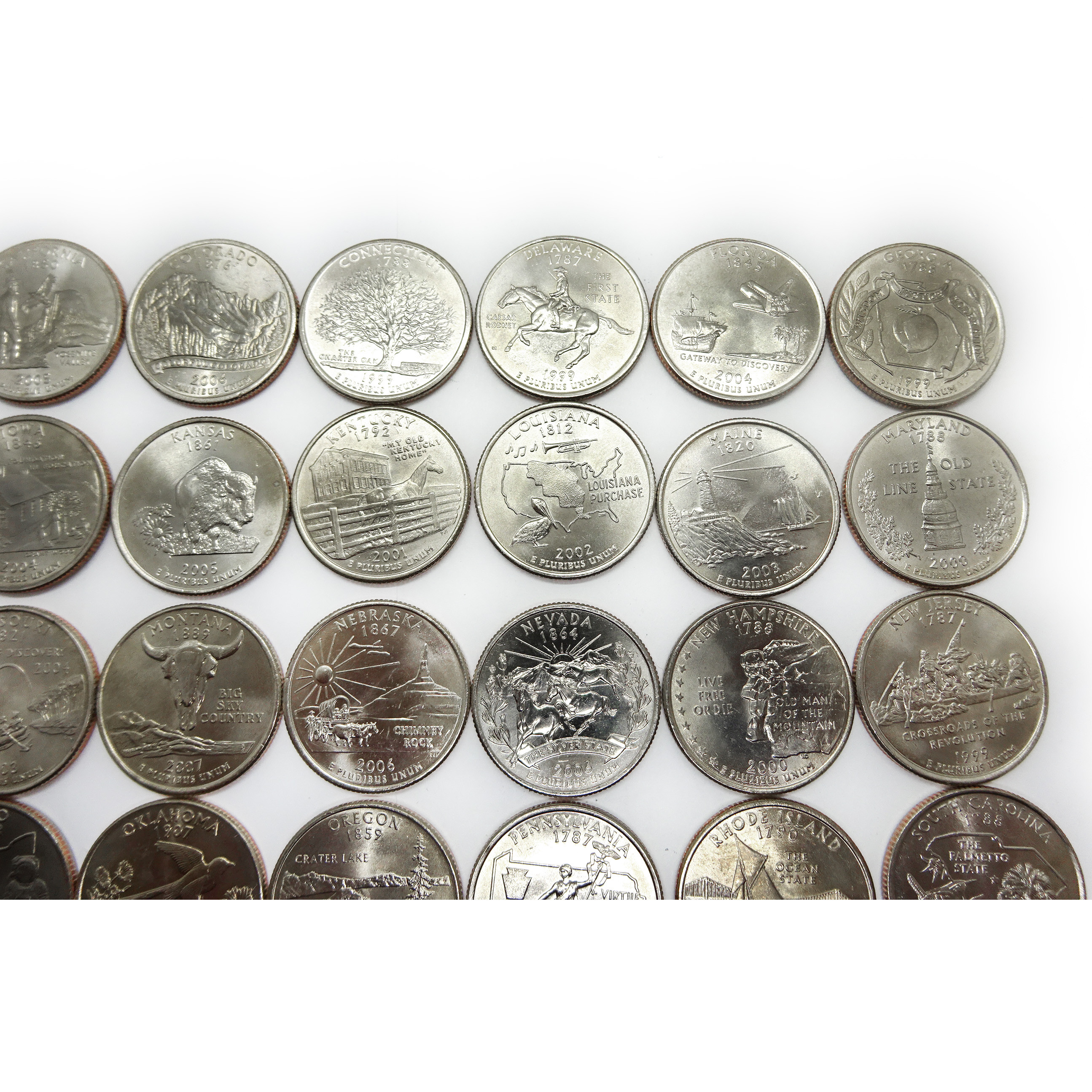 plete Us State Quarter Set 50 Coins 1999 2008 Auctions