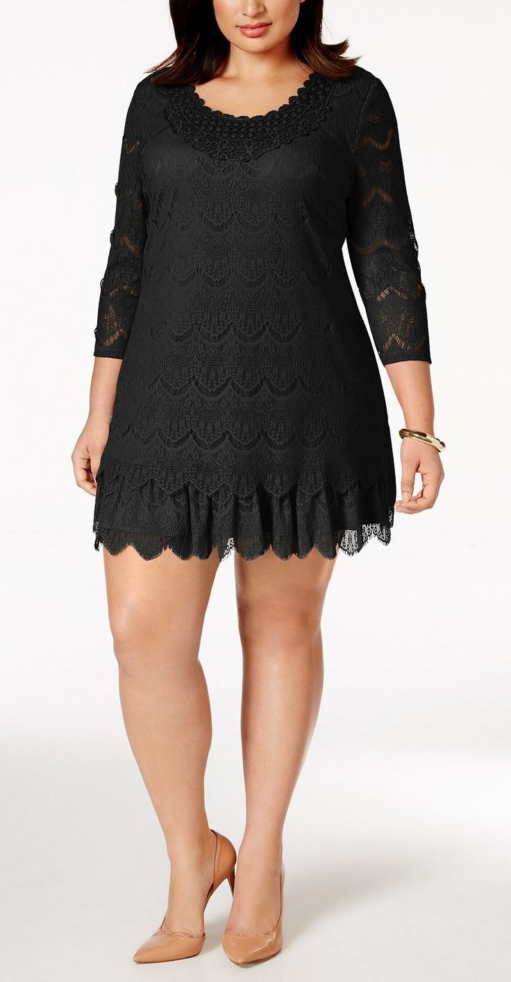 Plus Size Crochet Lace Dress plus size dress