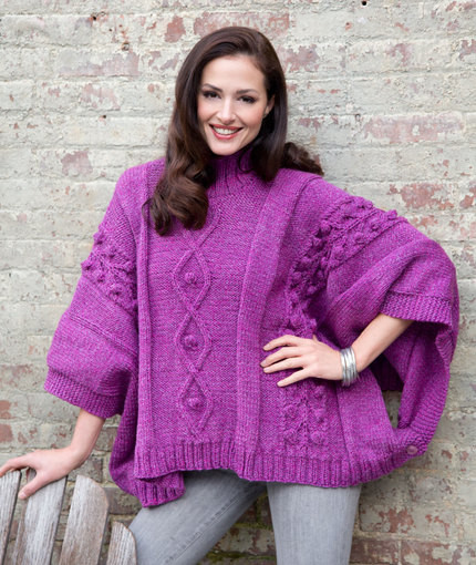 Ponchos & Capes ⋆ Knitting Bee 13 free knitting patterns