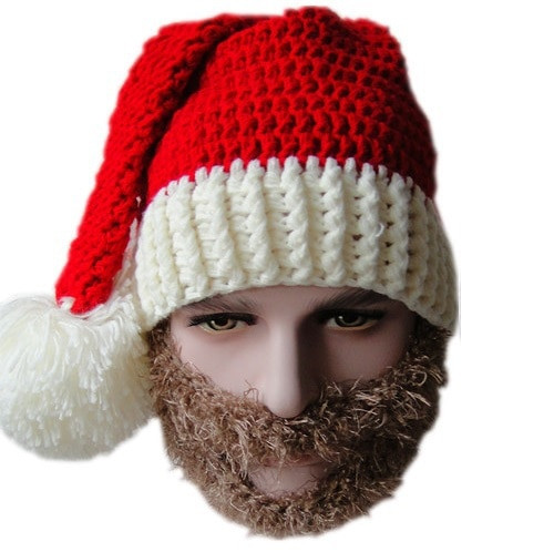 Elegant Popular Santa Beard Beanie Buy Cheap Santa Beard Beanie Knitted Christmas Hats Of Adorable 50 Models Knitted Christmas Hats