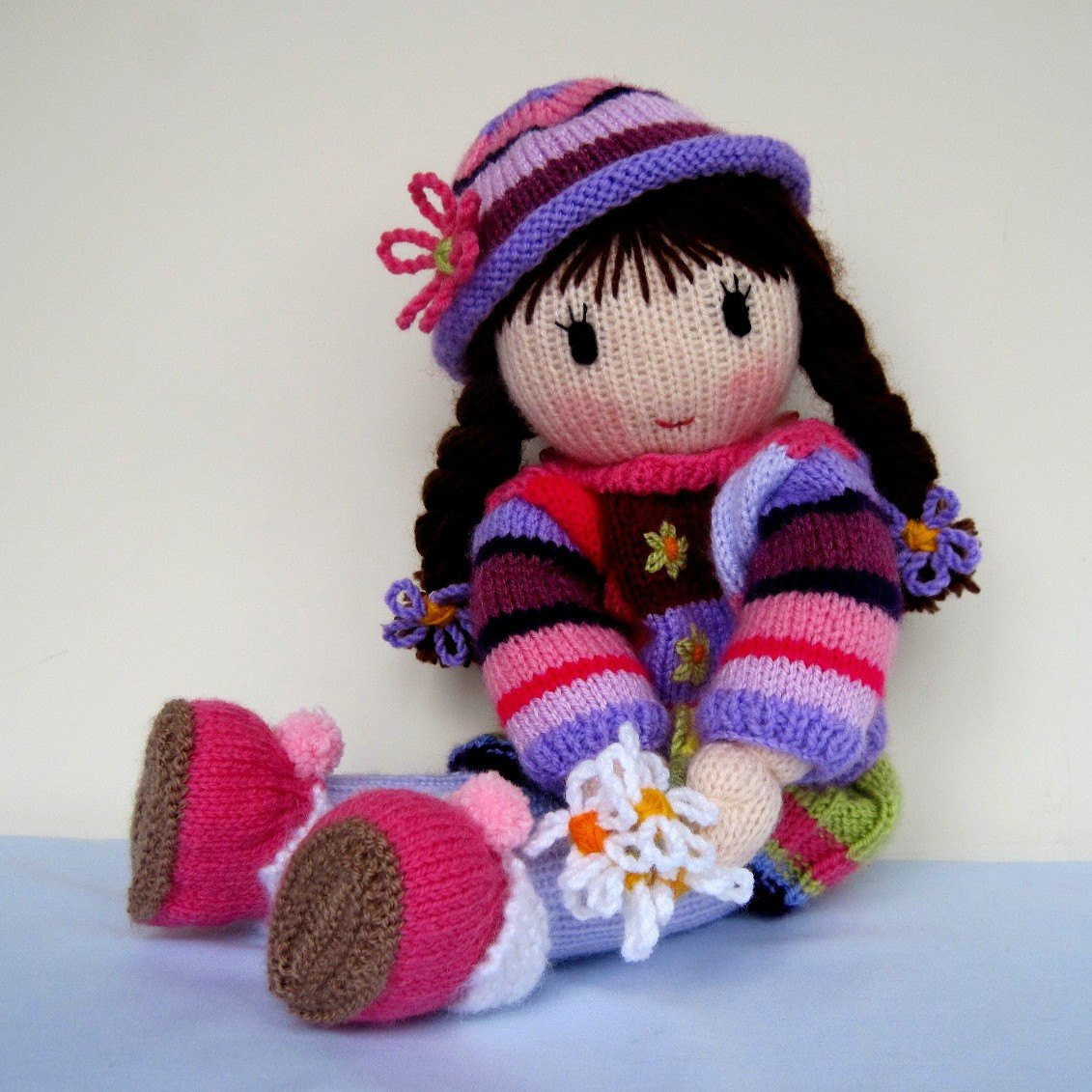 Posy Doll knitting pattern INSTANT DOWNLOAD by dollytime