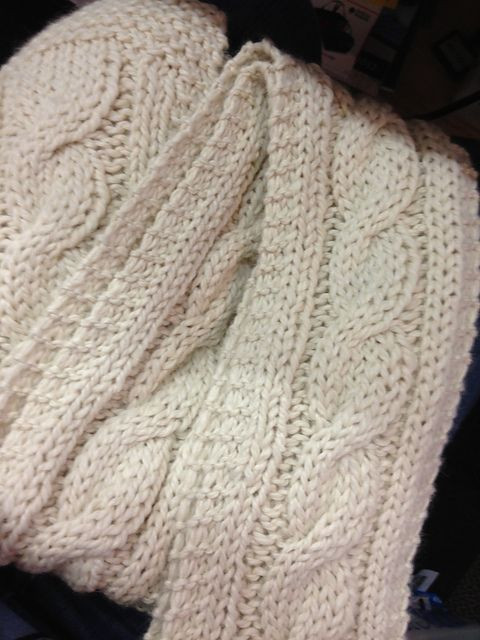 Ravelry Easy Chunky Cabled Scarf pattern by Joy Povich