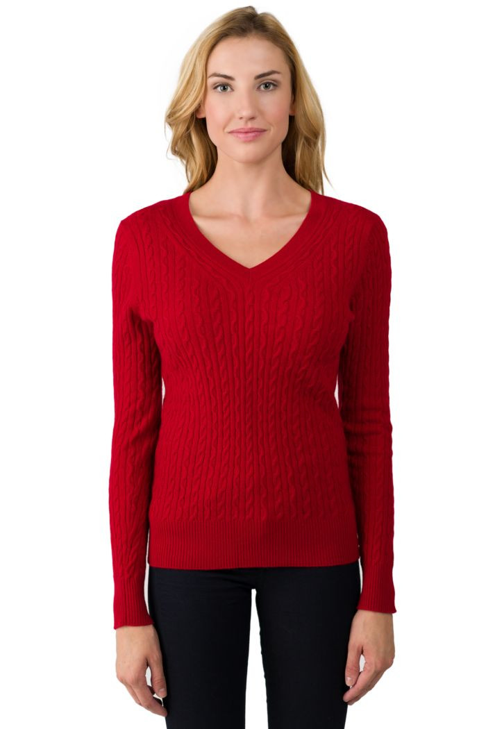 Elegant Red Cashmere Cable Knit V Neck Sweater J Cashmere V Neck Cable Knit Sweater Of Great 44 Pictures V Neck Cable Knit Sweater