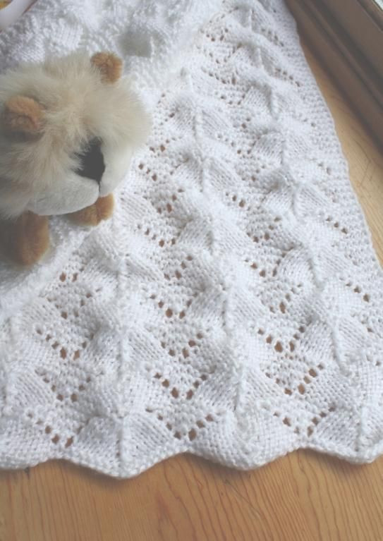 Reversible Lace Baby Blanket afghans