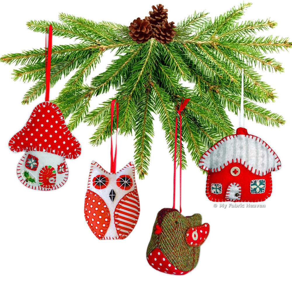 Elegant Robin Owl toadstool Cottage Christmas Tree Decoration Christmas Sewing Patterns Of Contemporary 43 Images Christmas Sewing Patterns