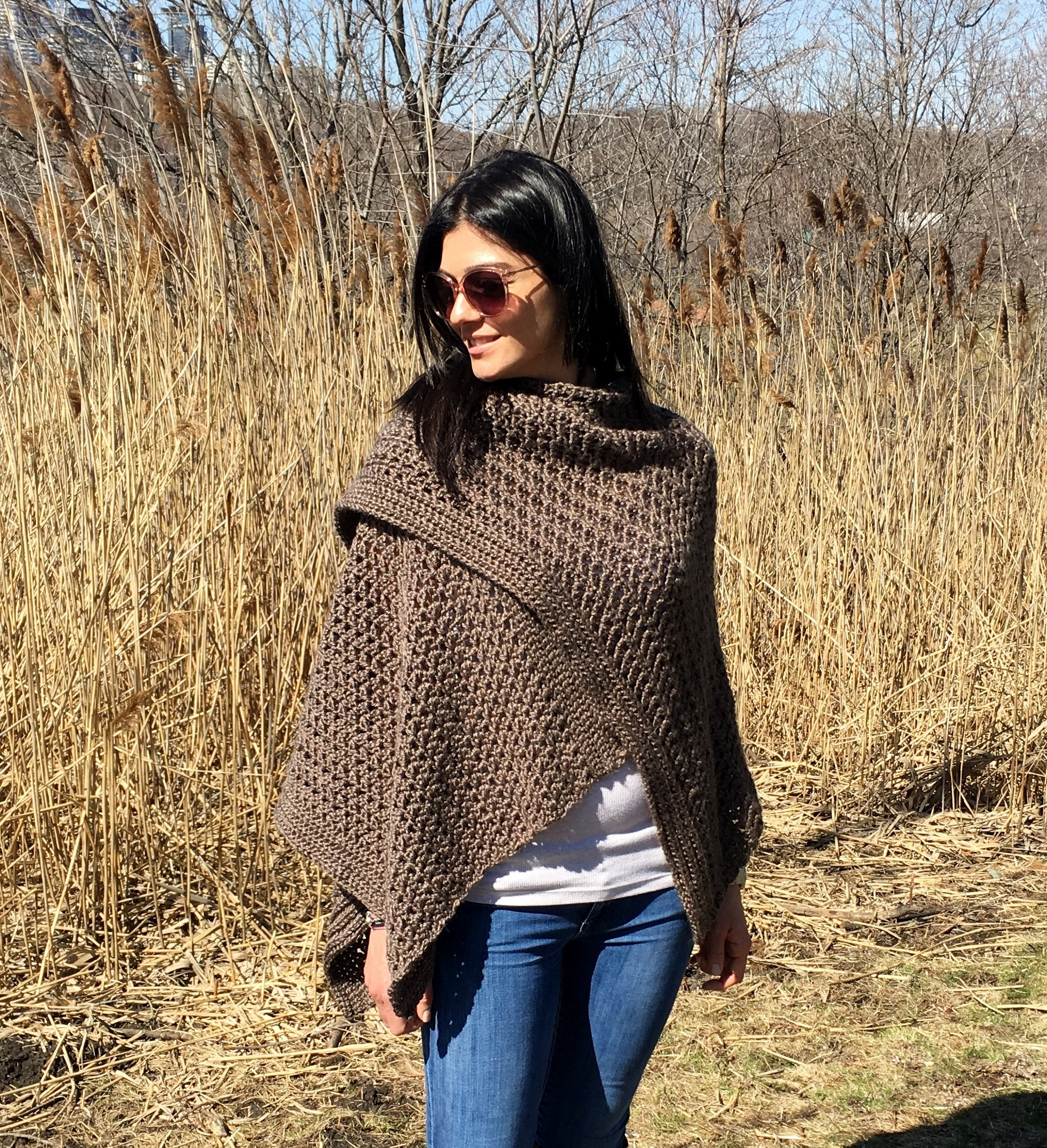 Elegant Ruana Poncho Ponshawl Shawl Pattern Detailed Free Crochet Ruana Pattern Of Amazing 46 Ideas Free Crochet Ruana Pattern