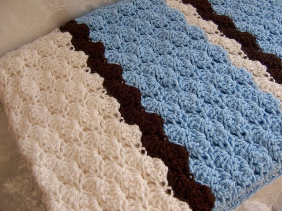 Elegant Sale Crochet Baby Blanket Shell Pattern In Baby Blue Crochet Shell Baby Blanket Of Lovely 50 Ideas Crochet Shell Baby Blanket