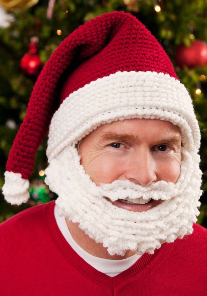 Elegant Santa Hat and Beard In Red Heart Super Saver Economy Santa Hat Pattern Of Awesome 49 Pictures Santa Hat Pattern