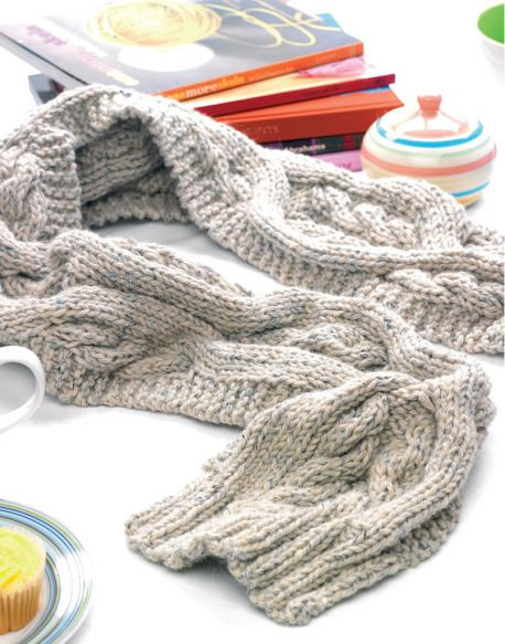 Elegant Scarves ⋆ Knitting Bee 376 Free Knitting Patterns Cable Scarf Pattern Of Attractive 46 Pics Cable Scarf Pattern