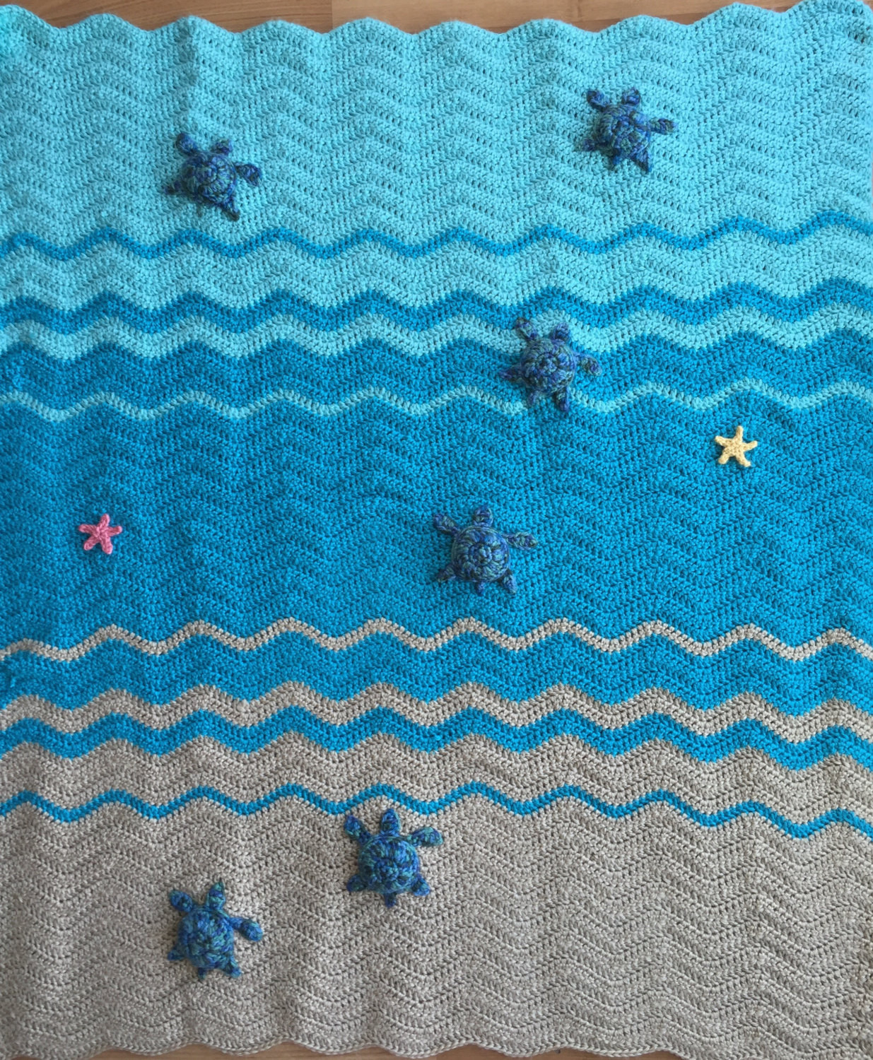 Elegant Sea Turtle and Sea Star Blanket Crochet Crib Blanket Baby Sea Turtle Crochet Blanket Pattern Of Beautiful Premier Sea Turtle Blanket Free Download – Premier Yarns Sea Turtle Crochet Blanket Pattern