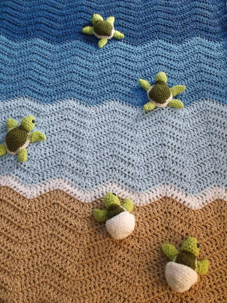 Elegant Sea Turtle Blanket Crib Blanket Crochet Baby by Sea Turtle Crochet Blanket Pattern Of Beautiful Premier Sea Turtle Blanket Free Download – Premier Yarns Sea Turtle Crochet Blanket Pattern