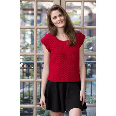 Elegant Shell Stitch top In Red Heart Luster Sheen Lw4105 Red Heart Luster Sheen Of Fresh 35 Models Red Heart Luster Sheen