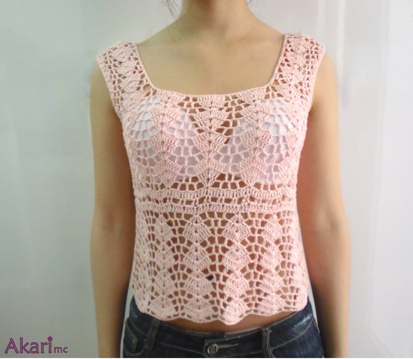"Elegant ""shells"" Crochet Blouse Crochet Blouse Of Superb 46 Models Crochet Blouse"