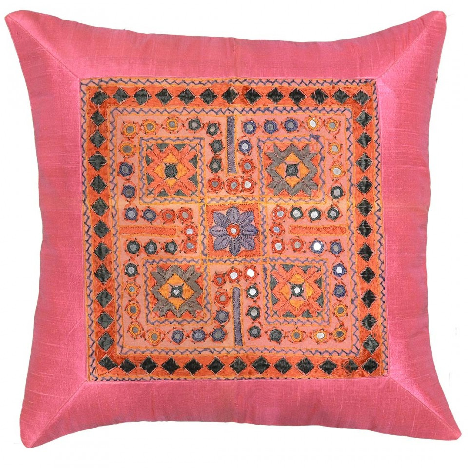 Elegant Silk Hot Pink Coral Accent sofa Pillows Couch Cushions Patterned Throw Of Amazing 40 Photos Patterned Throw