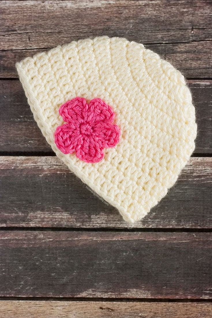 Elegant Simple Baby Hat Pattern with A Flower Easy Crochet Beanie Pattern Of Charming 45 Ideas Easy Crochet Beanie Pattern