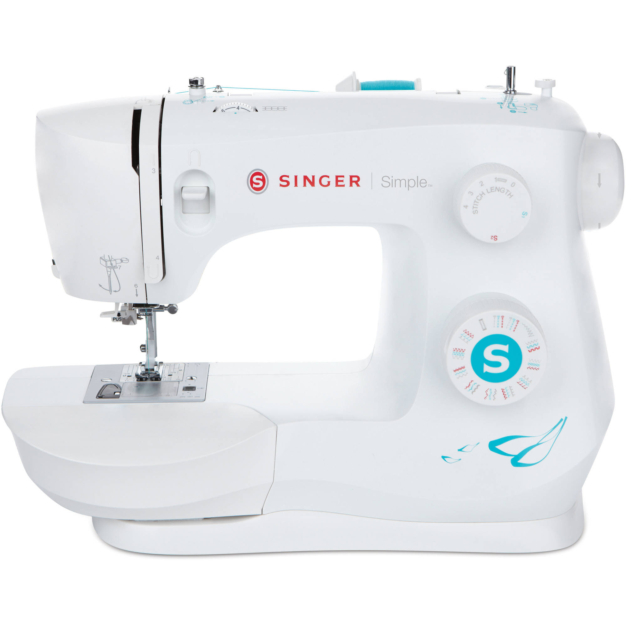 Singer 3337 Simple 29 Stitch Sewing Machine with Sew Easy