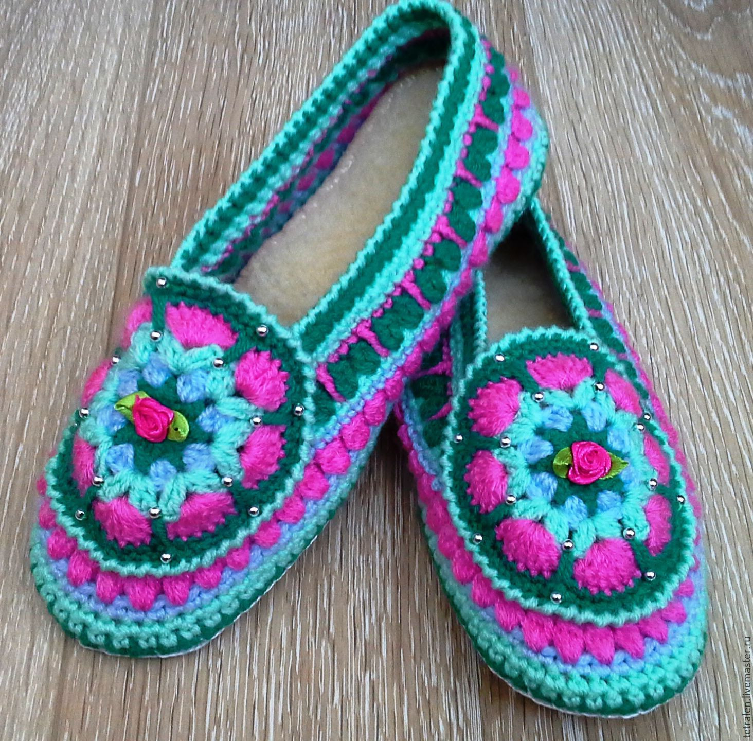 Elegant Slippers Knitted Spring Leather sole – Shop Online On Crochet Slippers with soles Of New 43 Photos Crochet Slippers with soles