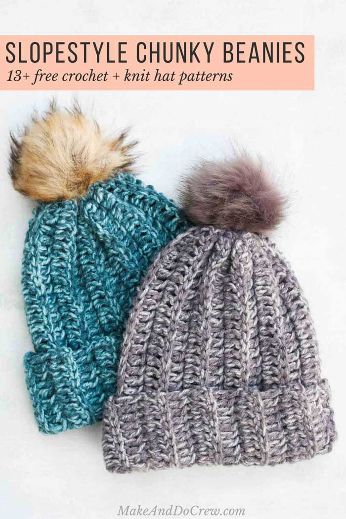 Elegant Slope Style 13 Free Knit Crochet Chunky Hat Patterns Chunky Crochet Hat Of Awesome 45 Models Chunky Crochet Hat