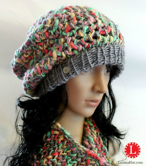 Elegant Slub Yarn Slouchy Loomahat Making A Hat On A Loom Of Attractive 43 Pics Making A Hat On A Loom