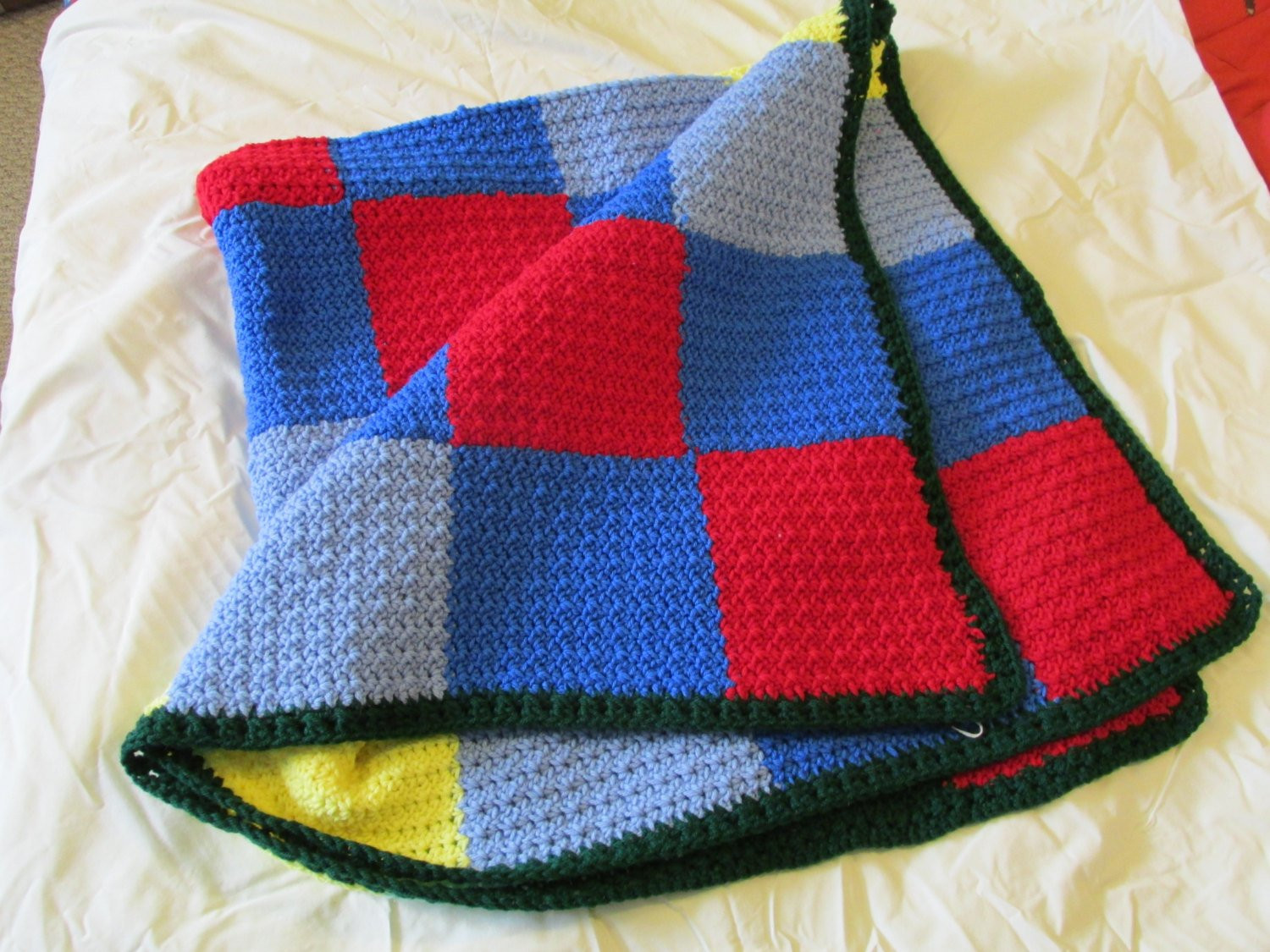 Elegant Small Afghan or Lap Blanket In Primary Colors by Robinsknit Lap Blanket Size Of Lovely 45 Images Lap Blanket Size