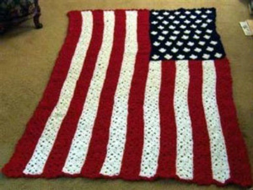 Elegant Stars and Stripes Granny Square Afghan American Flag Crochet Blanket Of Gorgeous 42 Ideas American Flag Crochet Blanket